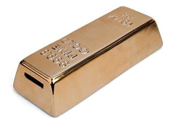 Alcancía Hucha Lingote De Oro Con Tapón