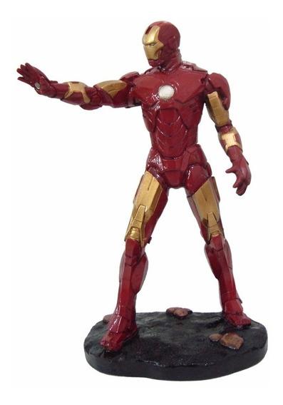 Homem De Ferro Iron Man Tony Stark Estatua Decoração Resina
