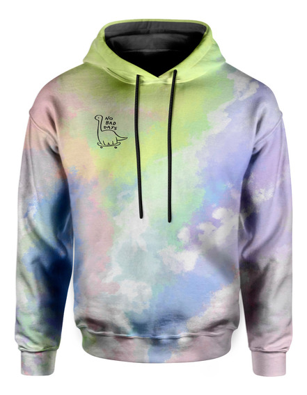 Moletom Com Capuz Unissex No Bad Days Tie Dye Md25