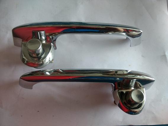 2 Maçaneta Externa Porta F1000 Cromada S/chave