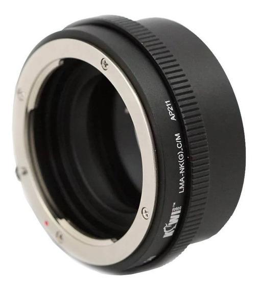 Adaptador Para Usar Lentes Nikon G Em Câmeras Canon Ef-m