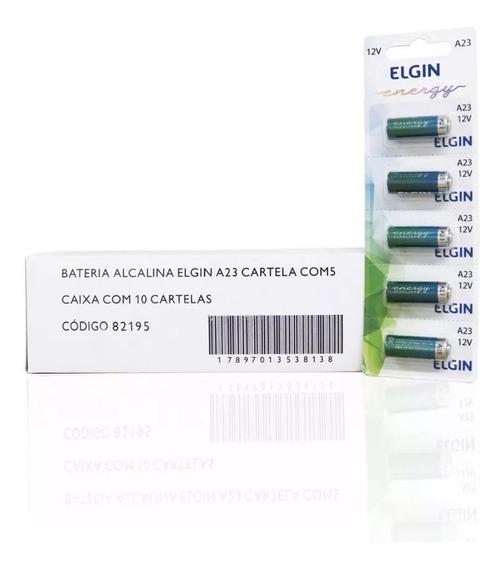Caixa De Bateria Alcalina Elgin A23 10 Cartela Com 5 Unidade