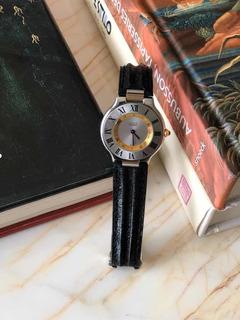 Reloj Cartier Siglo Xxi Hombre Malla Cuero