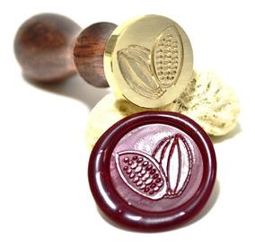 Sinete Para Lacre Cacau 25mm Mod. 01 - Carimbo De Chocolate