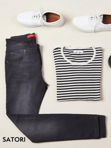 Jeans Pantalón Chupín Elastizado Hombre Premium Satori