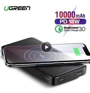Bateria Externa De 10000 Mah Con Wireless