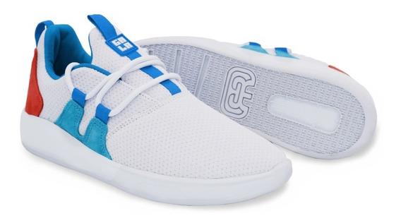 Tênis Hocks Sneaker Galáctica Branco Azul Pêssego Original