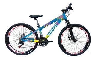 Bicicleta Free Ride Downhill Dh Viking Alumínio Aro 26