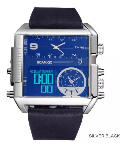 Boamigo Relógio Grande Cronógrafo Digital Quartzo