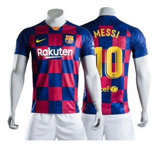 Camiseta Original Barcelona 2019 - 2020 Messi Griezmann