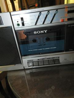 Sony Boombox Stereo Cassette-corder Cfs-3000 Funcionando