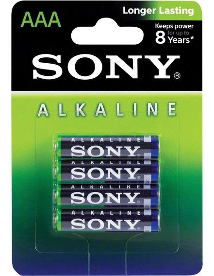 Pilha Alcalina Aa Am3l-b4d Sony Cartela4 Pilhas