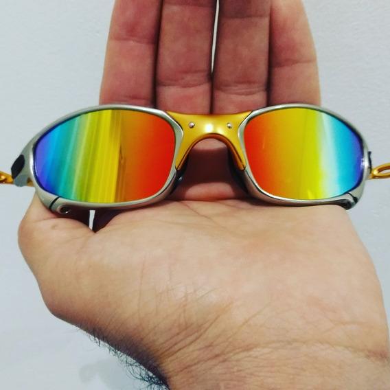 Óculos De Sol 24k Brilho Reto Arco-íris Juliet Lupinha Penny
