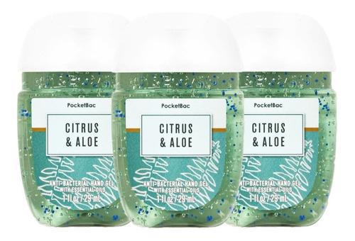 Citrus & Aloe Gel Antibacterial Bath & Body Works Kit 3 Pz