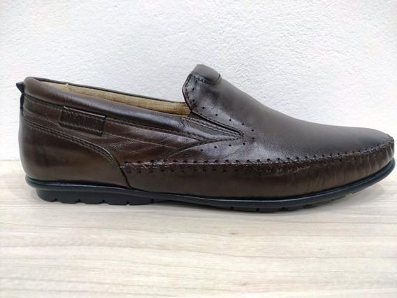 Sapato Masculino Mocassim Rafarillo Couro 19013 Castanho