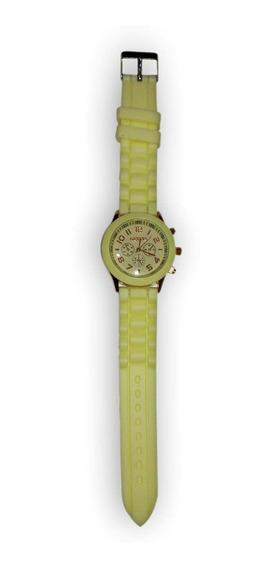 Relógio Feminino Geneva Pulseira De Silicone Ótimo Preço