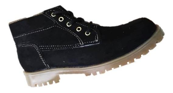 Zapatos Botín Para Niñas Color Negro