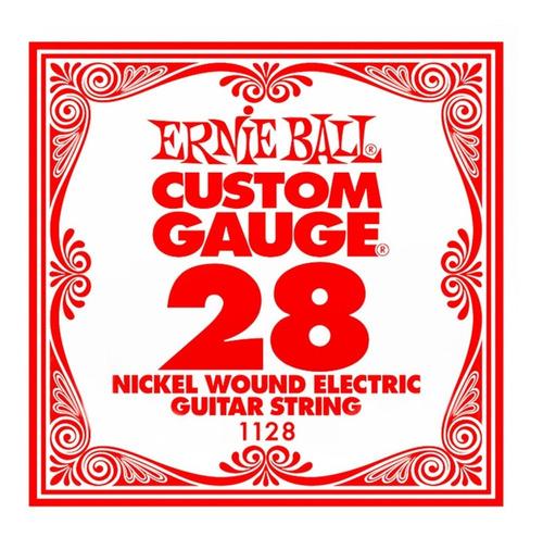 Imagen 1 de 8 de Cuerda Suelta Ernie Ball 028 Nickel Wound Guitarra Electrica