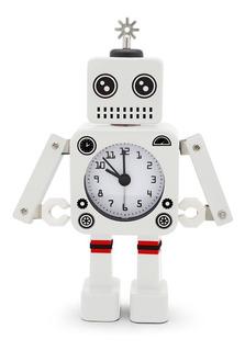Reloj Despertador Robot Roboclock Gato Metal