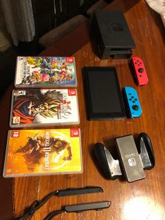 Nintendo Switch Full + 3 Juegos + Cuenta De Fornite