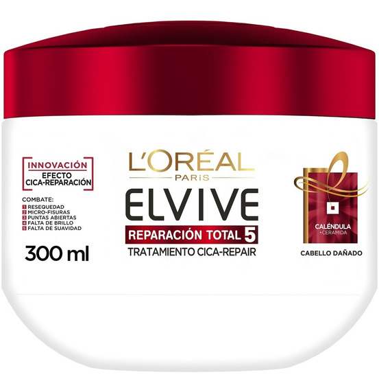 Crema Tratamiento Cicca-repair Total 5 Elvive Loreal 300ml
