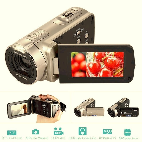 Filmadora Andoer Full Hd 20 Mp Zoom ,16 X Tela 2.7