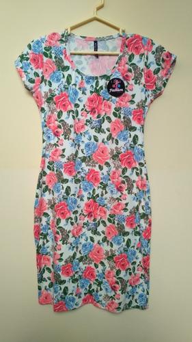Vestido Floral Talla S Entallado Verano Nuevo Importado