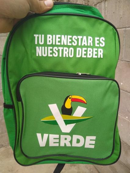 Mochila Partido Verde De Colección Electoral