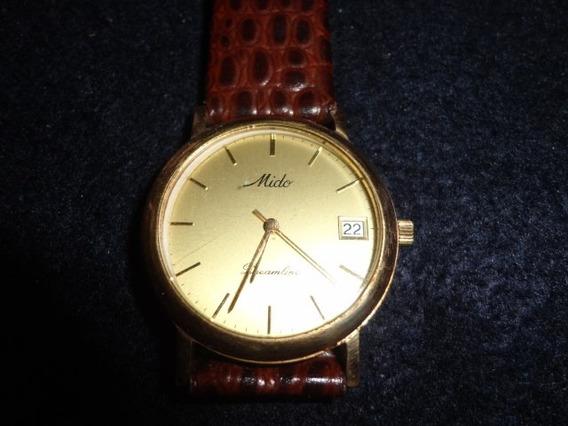 Relógio Mido Dreamline Em Ouro.