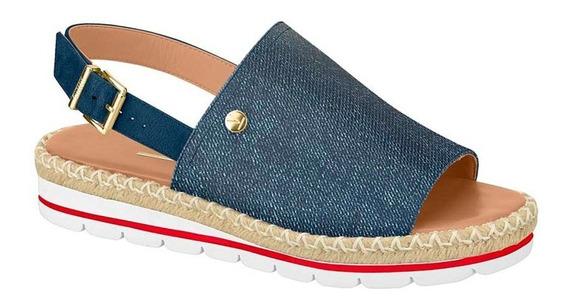 Sandália Tiras Flatform Vizzano Jeans Escuro
