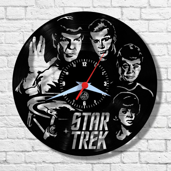 Star Trek Arte No Lp Relógio Parede Disco Vinil Geek
