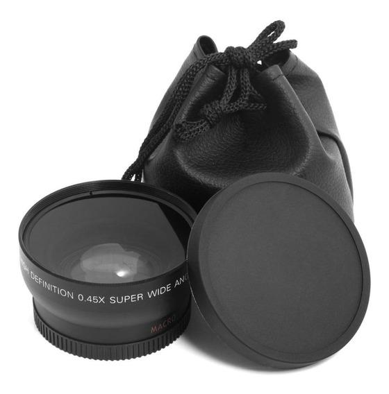 Lente Grande Macro 0.45x Hd Ângulo 55mm Para Sony Dslr A230