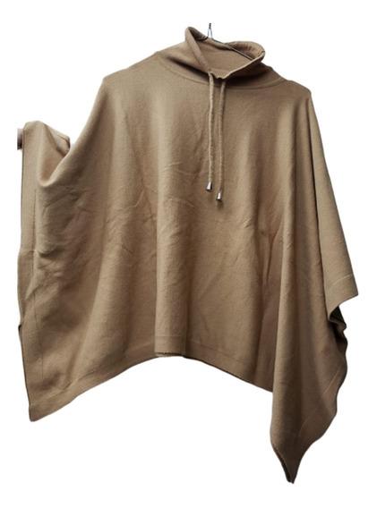 Sweater-poncho, Cuello Alto Con Lazo, Nina