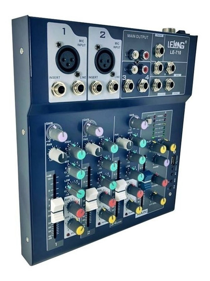 Mesa De Som Profissional Bluetooth Mixer Player Usb Mp3 4 Ch
