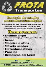 Retirada De Entulho/ Carretos/ Mudanças Sp Interior Litoral