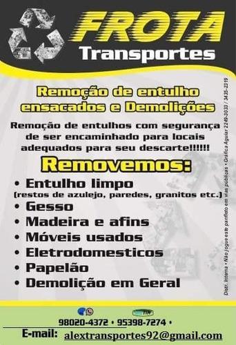 Retirada De Entulho/ Carretos/ Mudanças Sp