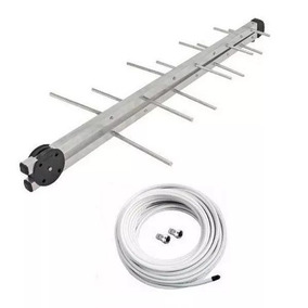 Antena Externa Digital Para Tv + Cabo 20 Metros + 2 Conector