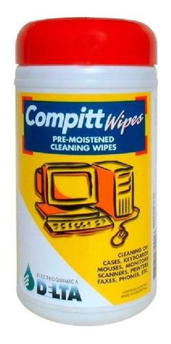Paños De Limpieza Compitt Wipes Delta 45u. Pre Humedecidos