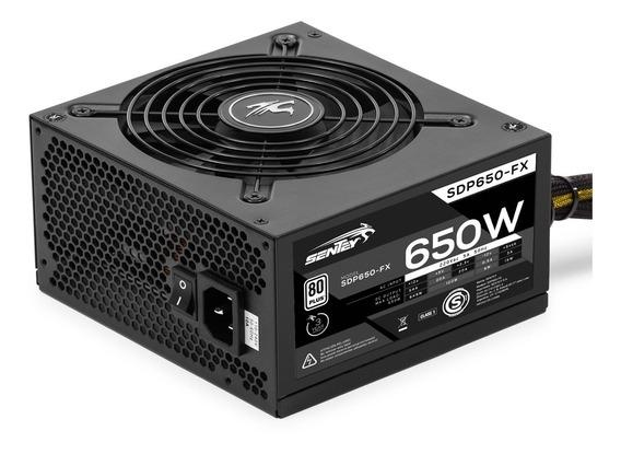 Fuente Pc Gamer 650w Reales 80 Plus 41a Atx Protección Voltaje