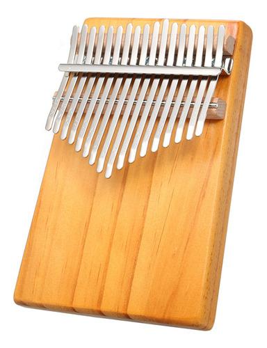 Imagen 1 de 9 de Kalimba De 17 Teclas, Instrumento Musical