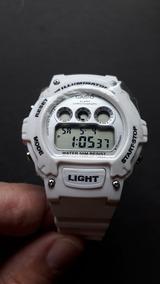 Relógio Casio W-214 Branco Unissex