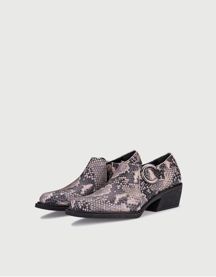Zapato Texana Brid Dama Cuero Vacuno Moda Invierno Viamo