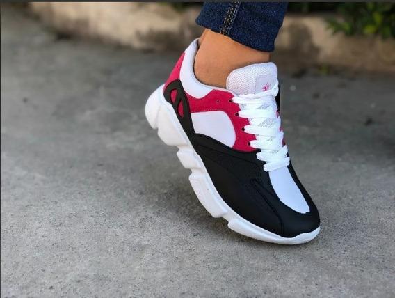 Tenis Feminino Chunky Sneaker Colorido Lançamento Original