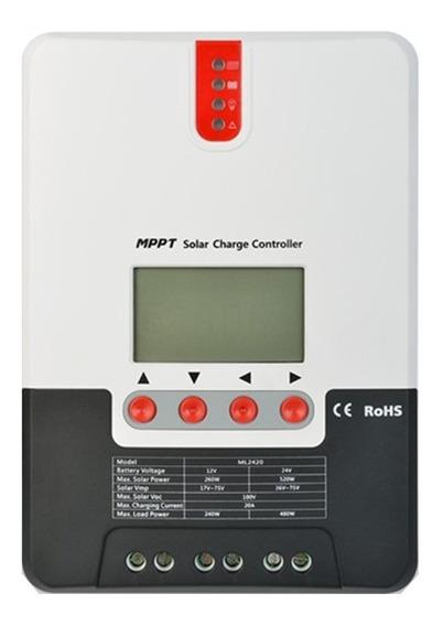 Controlador De Carga Solar Mppt 20a 12v/24v Ml2420 Srne