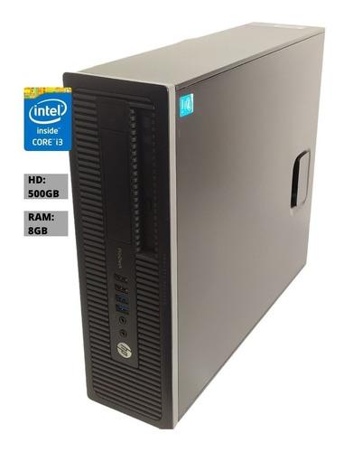 Imagem 1 de 6 de Cpu Hp Prodesk 600 G1 Sff Core I3-4160 8gb Ram Hd 500gb Nf