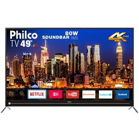 Smart Tv Philco 4k 49 Ptv49g50sn Com Função Netflix Bivolt