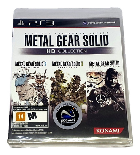 Metal Gear Solid Hd Collection - Ps3 (mídia Física Original)