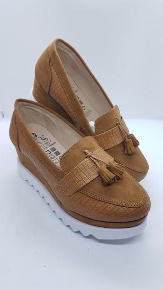 Zapatos Colombianos Para Dama Mocasines Suela Alta Colonial