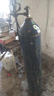 Tubo De Oxigeno 1/2 Con Regulador 2 Manometros Soldar
