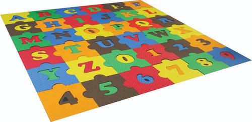 Imagem 1 de 2 de Jogos Brinquedo Quebra Cabeça Alfabeto Número Eva Criança